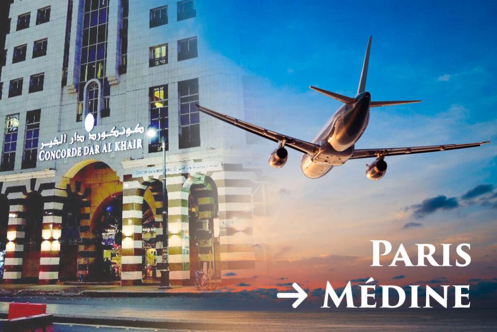 Départ de Paris CDG Vers Médine Aéroport Prince Mohammad Bin Abdulaziz