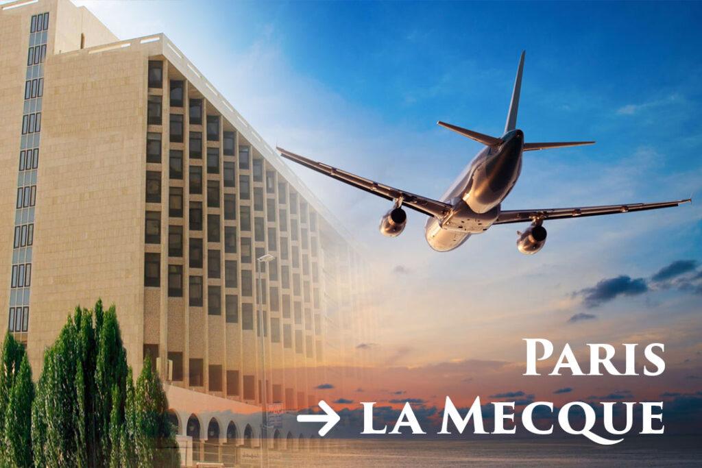 – Jour de départ de Paris CDG vers l'aéroport de DJEDDAH – Remise des carnets de Voyages et présentation de nos guides aux pèlerins… <br /> – Arrivée à Djeddah et Transfert vers La Mecque en bus climatisés