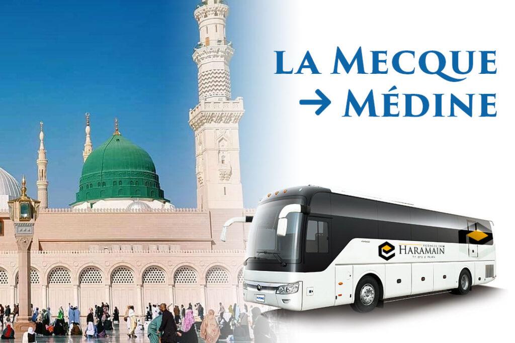 Départ pour Médine en bus climatisés et INSTALLATION à l'hôtel à Médine