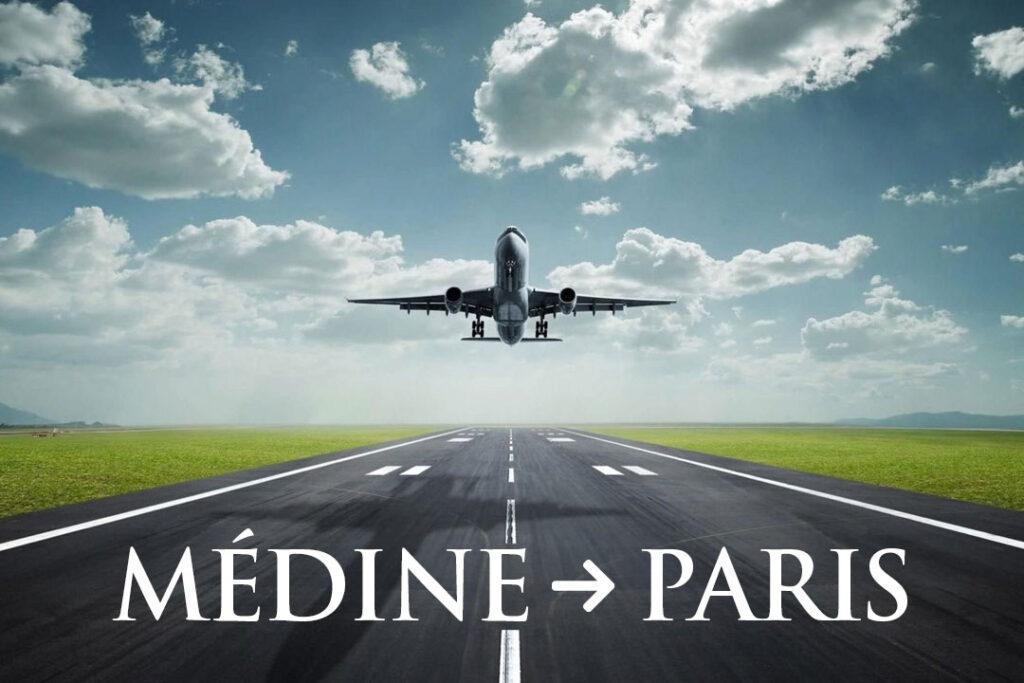 Transfert vers l'aéroport de Medine et retour vers Paris CDG
